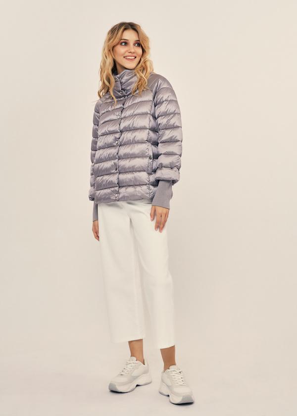 Стеганая куртка с манжетами - фото 5