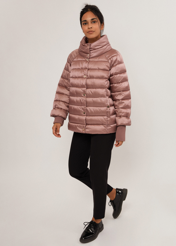 Стеганая куртка с манжетами - фото 3