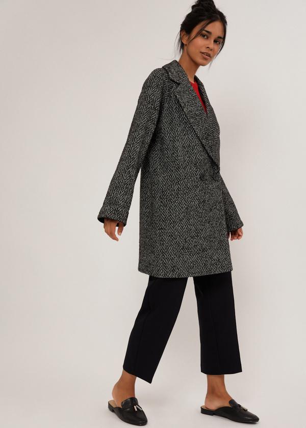 Двубортное укороченное пальто - фото 2