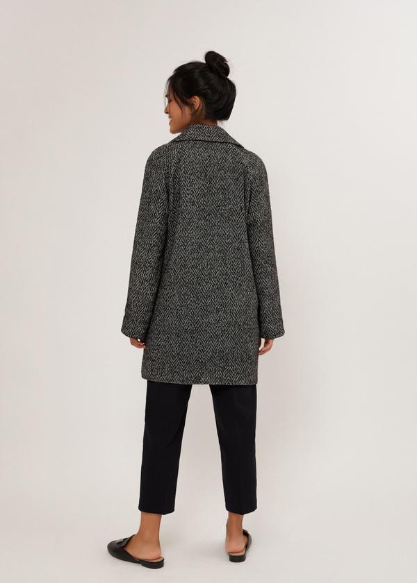 Двубортное укороченное пальто - фото 3