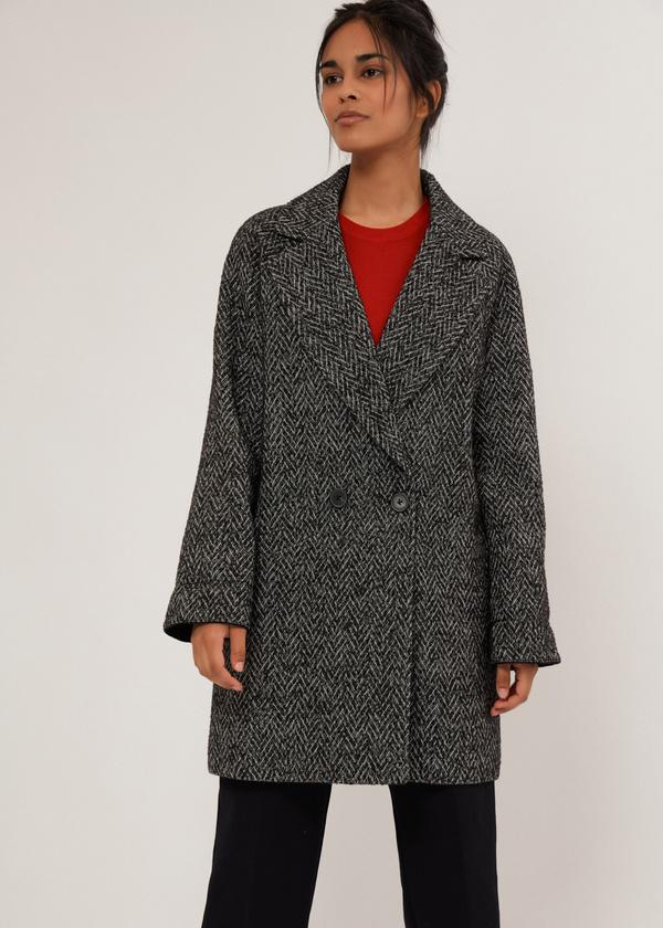 Двубортное укороченное пальто - фото 4