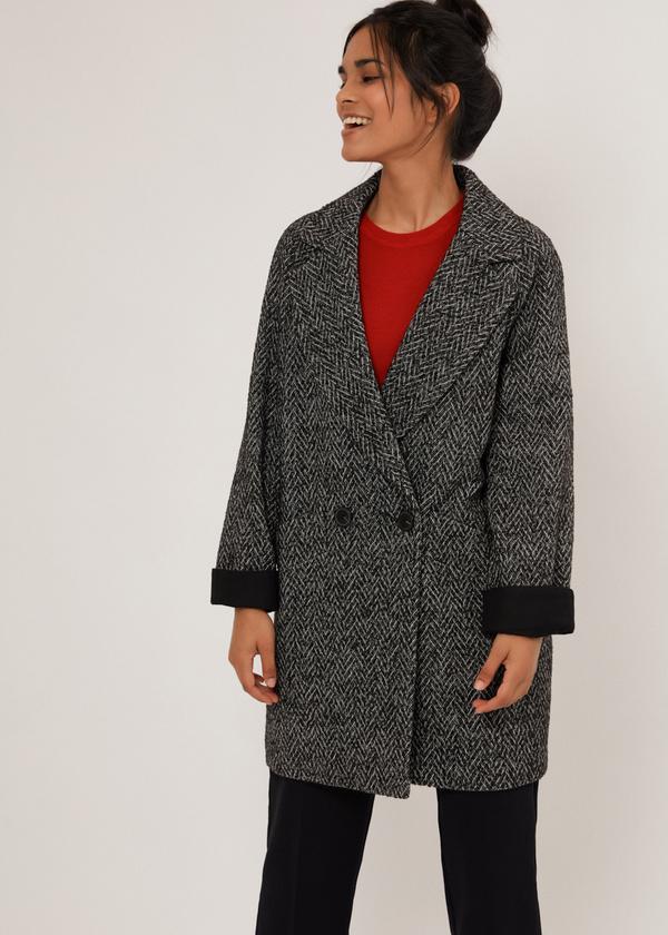 Двубортное укороченное пальто - фото 5