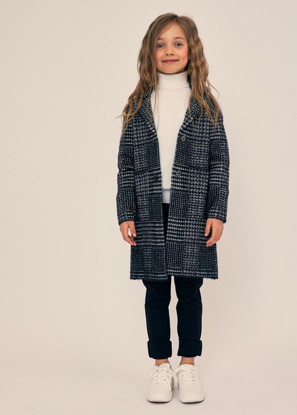 Двубортное пальто для девочек - фото 1