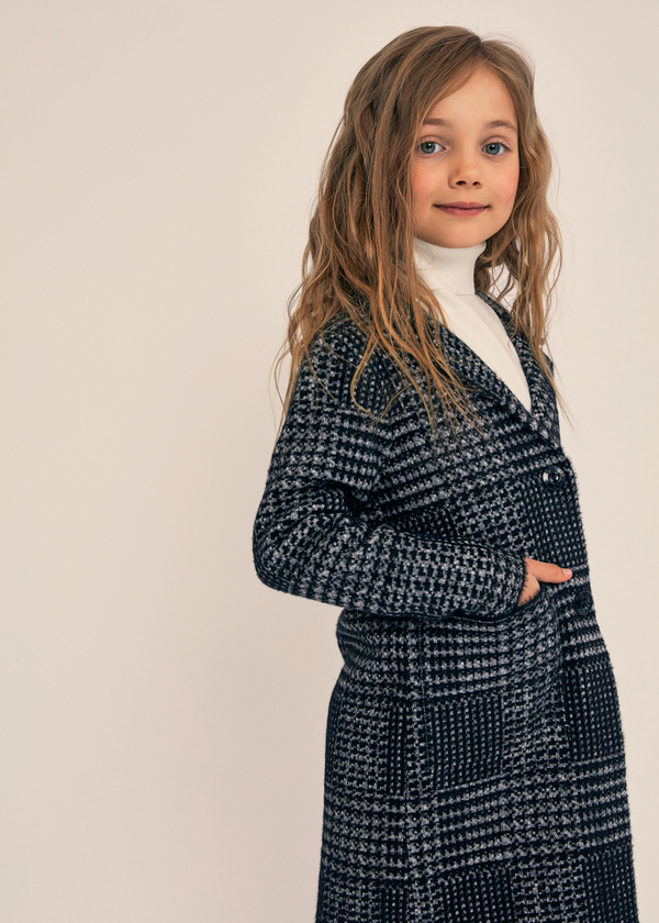 Двубортное пальто для девочек - фото 5