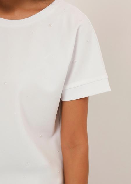 Блузка с бусинами - фото 3