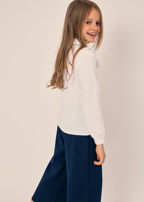 Блузка из хлопка с отложным воротником - фото 2