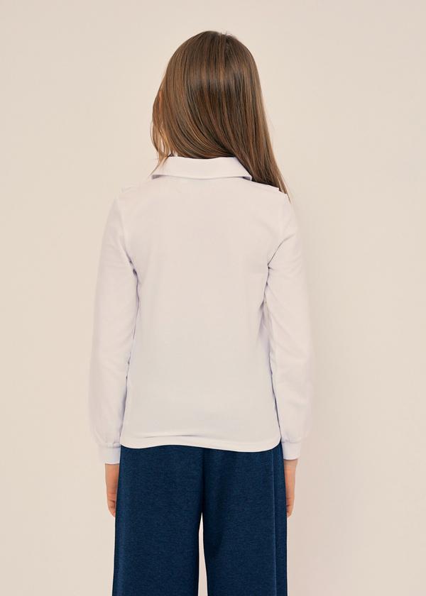 Блузка из хлопка с отложным воротником - фото 3