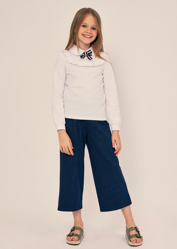 Блузка из хлопка с отложным воротником - фото 5