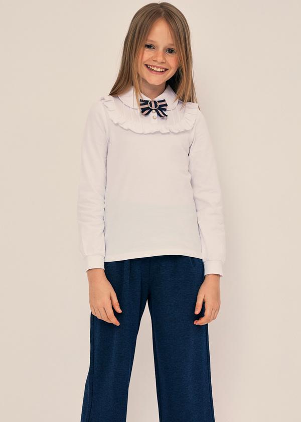 Блузка из хлопка с отложным воротником - фото 6