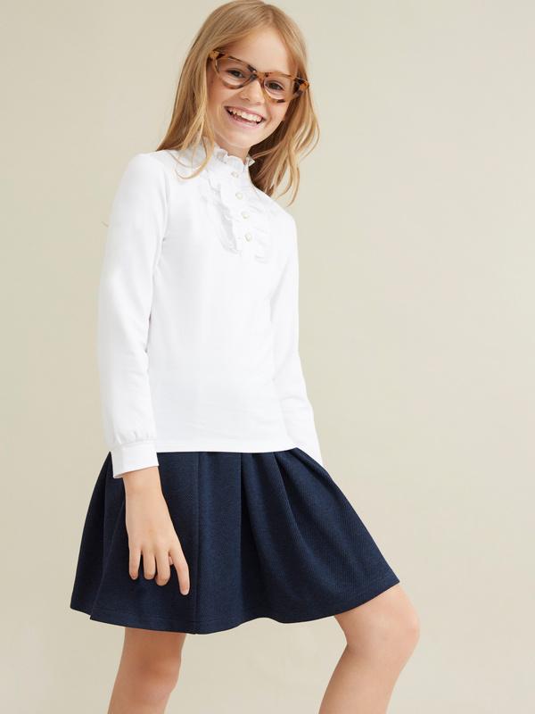 Блузка из хлопка с манишкой - фото 1