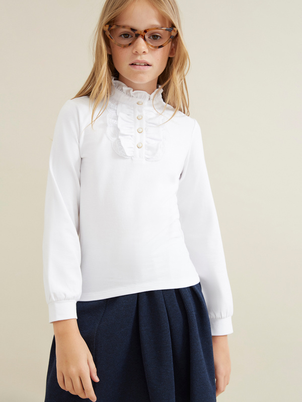 Блузка из хлопка с манишкой - фото 2