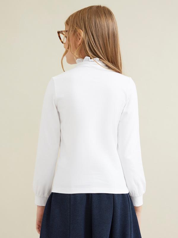 Блузка из хлопка с манишкой - фото 3