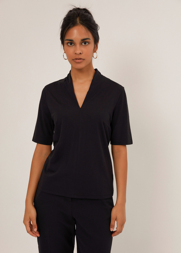 Блуза с V-образным вырезом - фото 1