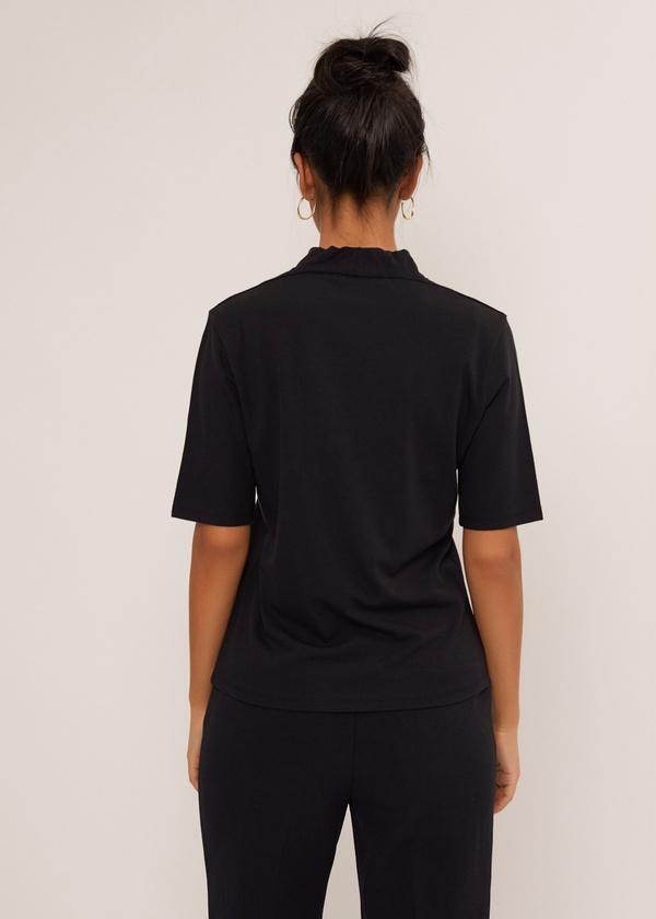 Блуза с V-образным вырезом - фото 3