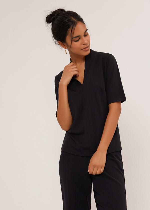 Блуза с V-образным вырезом - фото 4