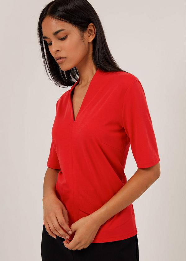 Блуза с V-образным вырезом - фото 2