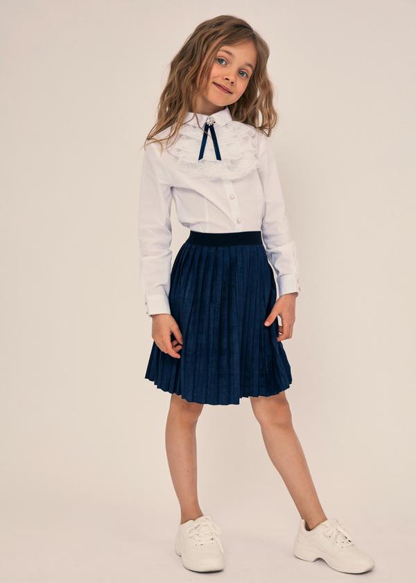 Плиссированная юбка с эластичным поясом - фото 1