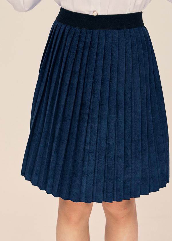 Плиссированная юбка с эластичным поясом - фото 2