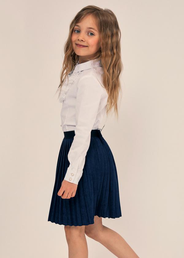 Плиссированная юбка с эластичным поясом - фото 3