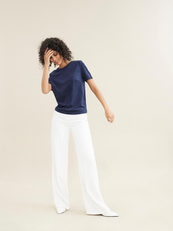 Блузка с кружевом имитация замши - фото 5
