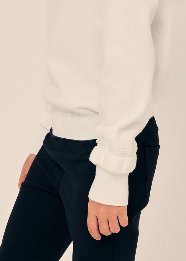 Джемпер для девочек с рукавами-фонариками - фото 2