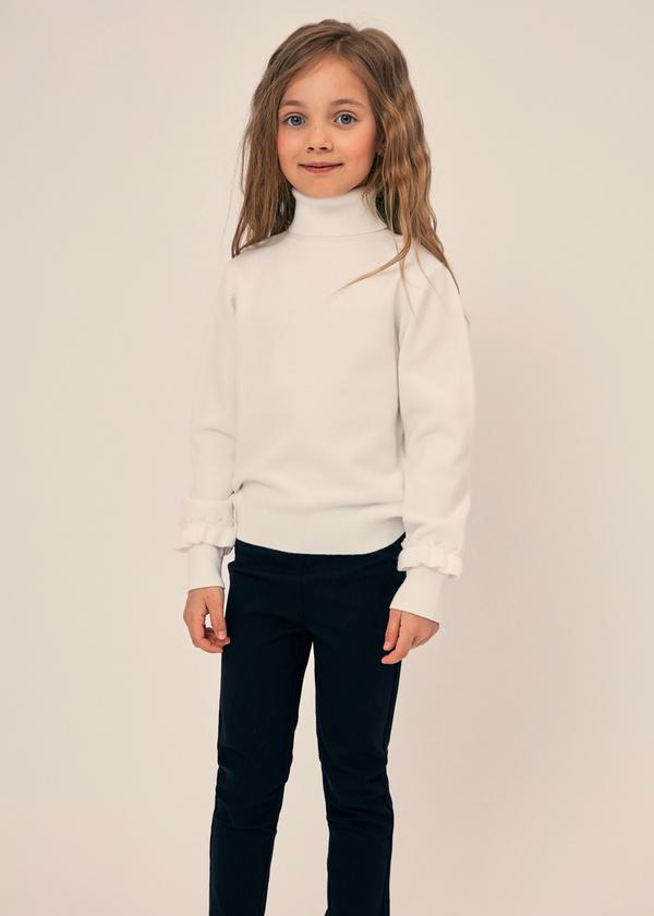 Джемпер для девочек с рукавами-фонариками - фото 3