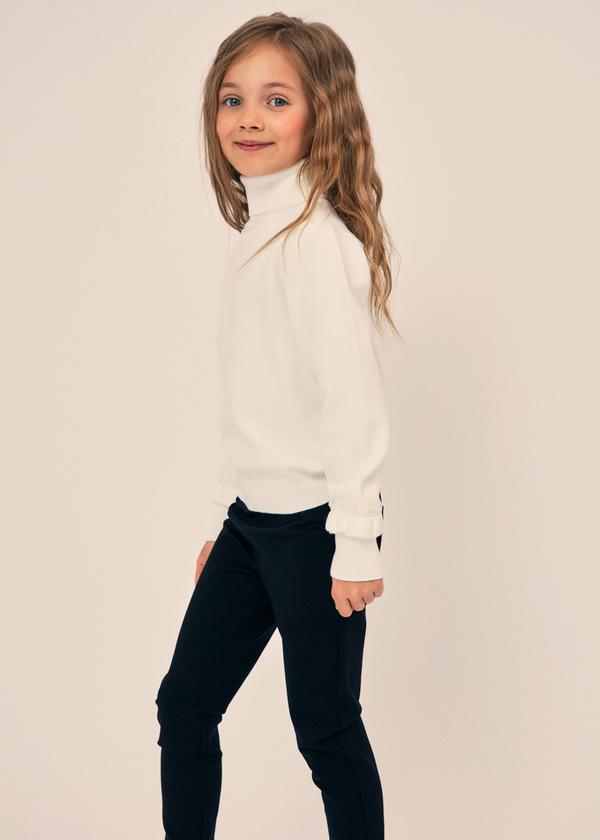 Джемпер для девочек с рукавами-фонариками - фото 5