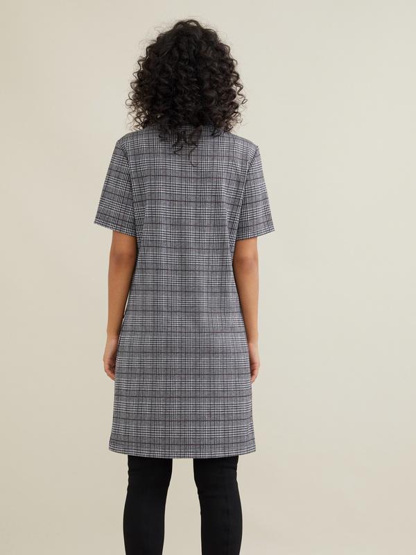 Платье-мини с имитацией карманов - фото 4