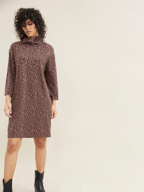 Платье с леопардовым принтом - фото 2