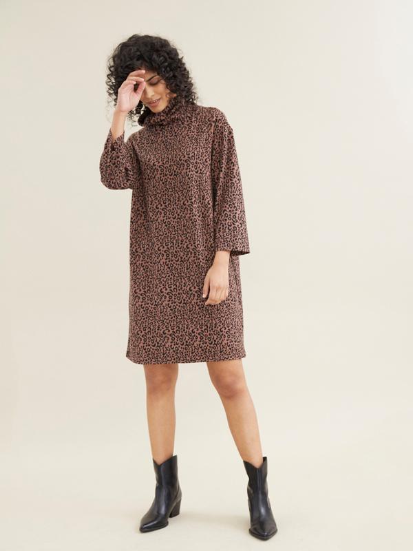 Платье с леопардовым принтом - фото 3