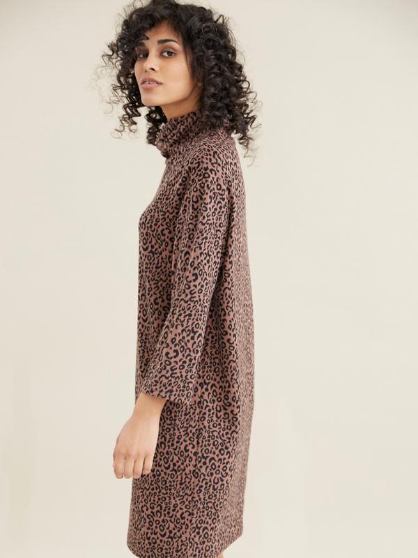 Платье с леопардовым принтом - фото 4