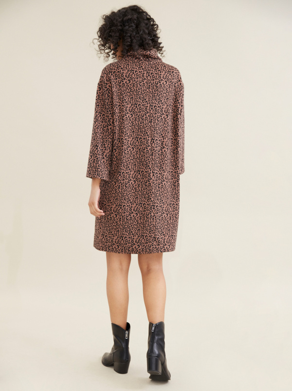 Платье с леопардовым принтом - фото 6
