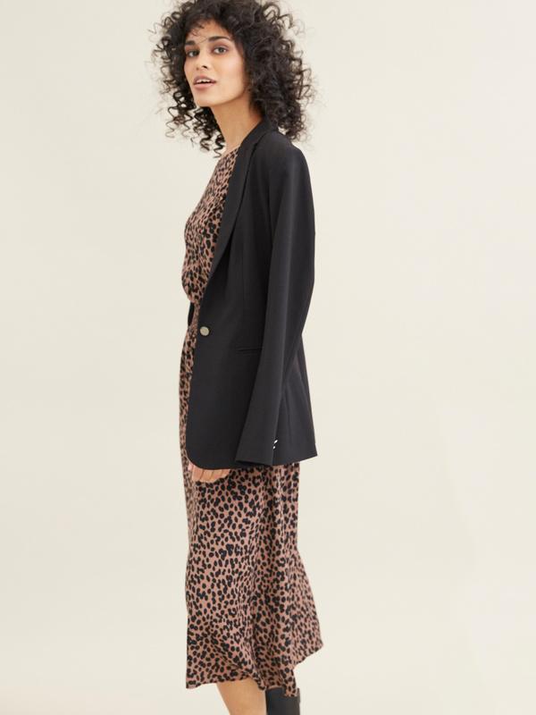 Платье-миди с леопардовым принтом - фото 5