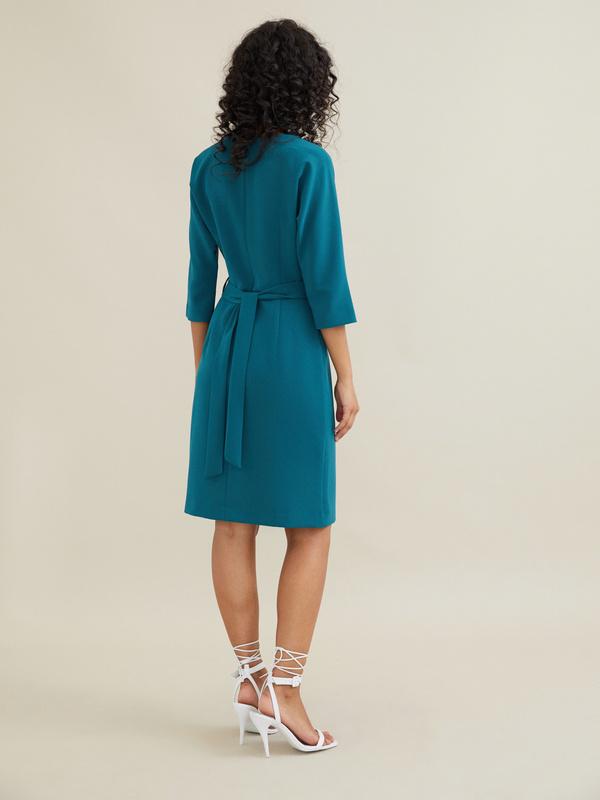 Платье-футляр с поясом - фото 5