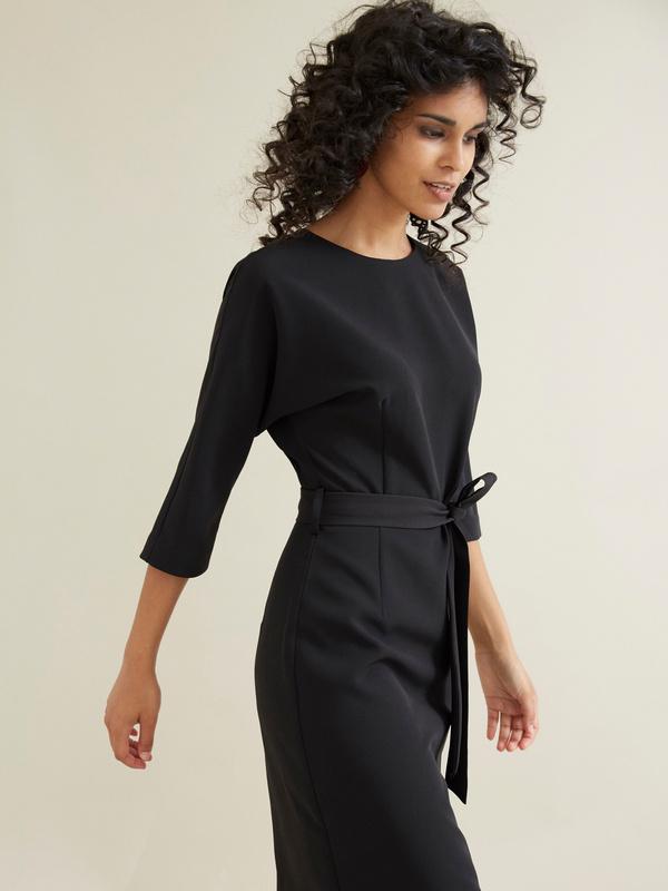 Платье-футляр с поясом - фото 2