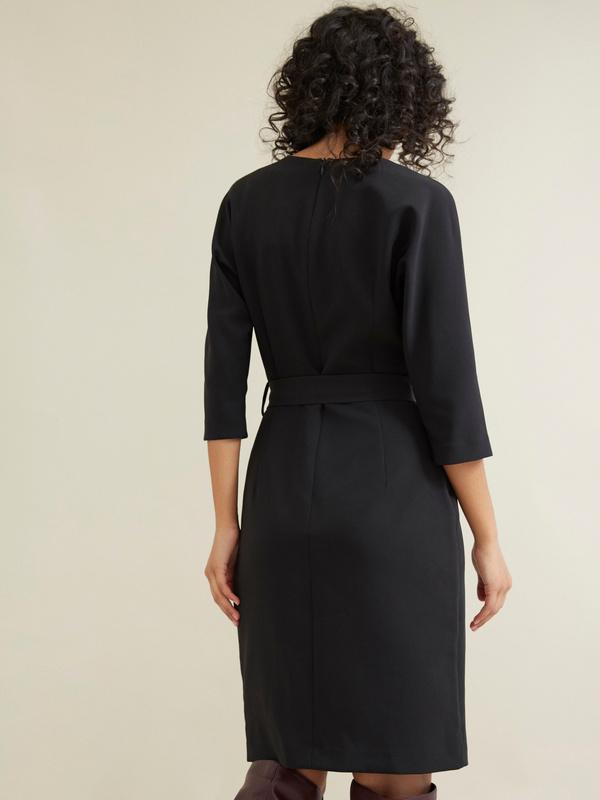 Платье-футляр с поясом - фото 3