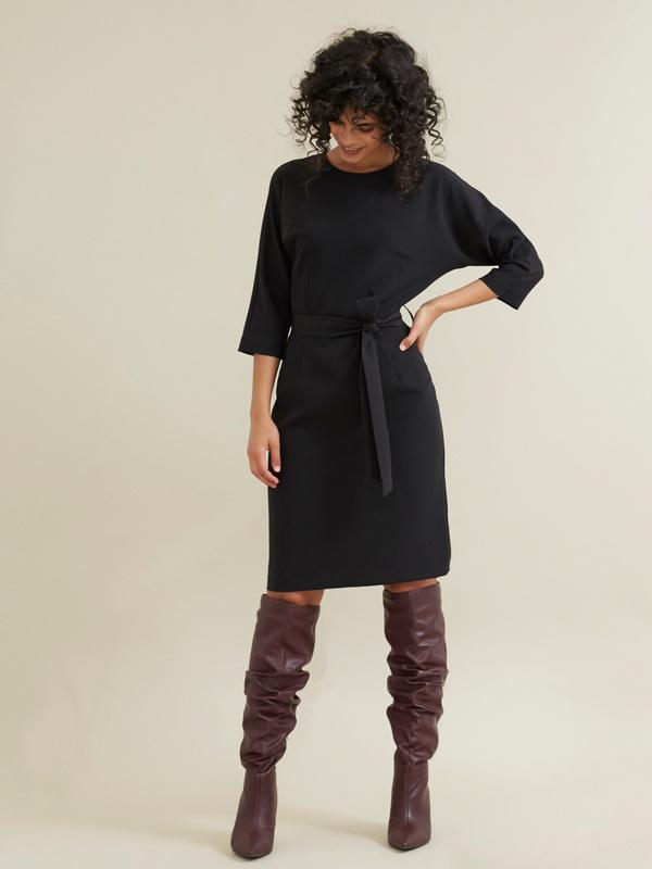 Платье-футляр с поясом - фото 4