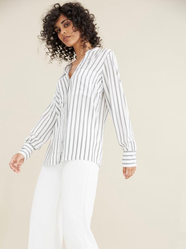 Блуза в полоску - фото 2