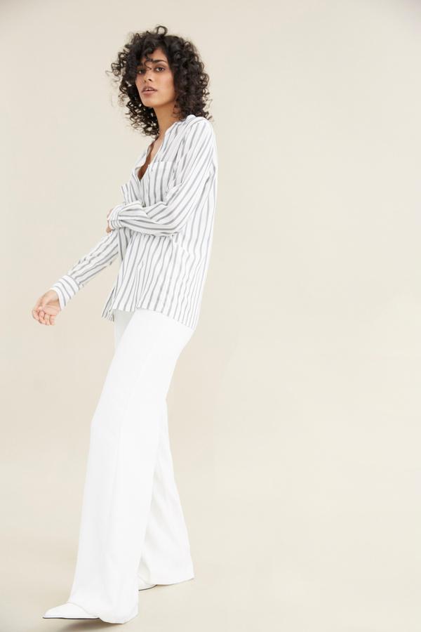 Блуза в полоску - фото 4