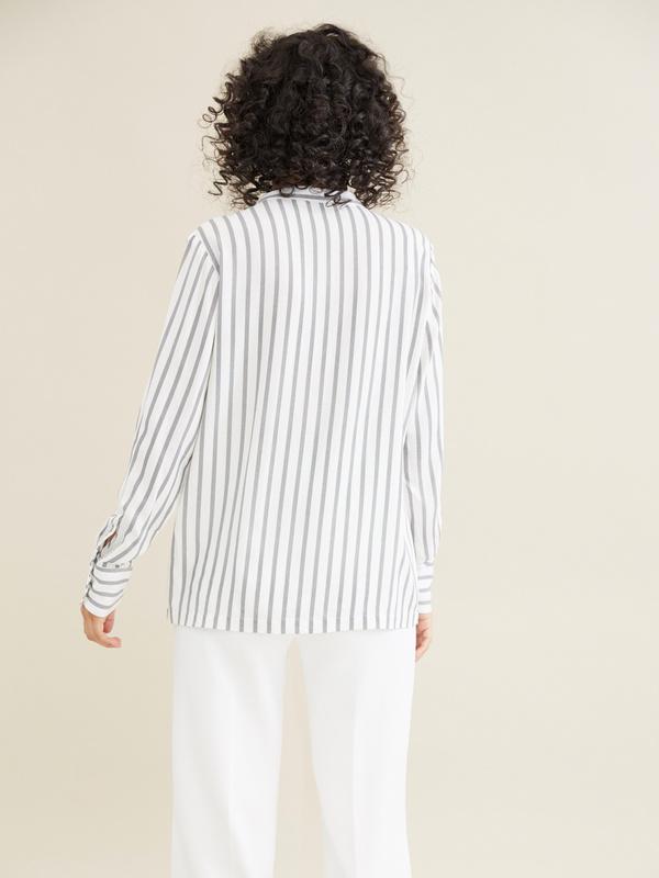 Блуза в полоску - фото 5