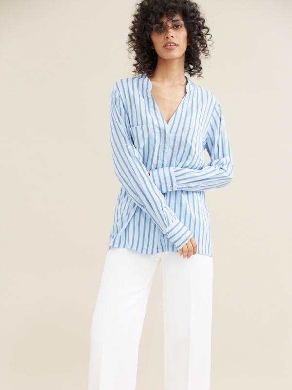 Блуза в полоску - фото 1