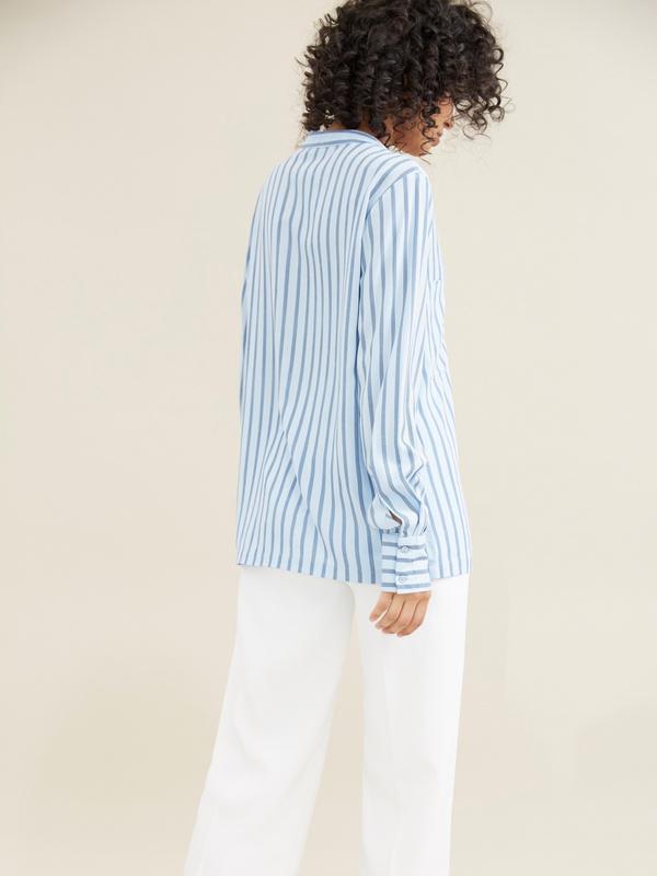 Блуза в полоску - фото 3