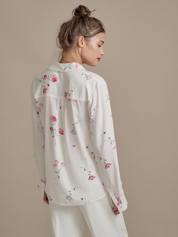 Блузка с цветочным принтом - фото 2