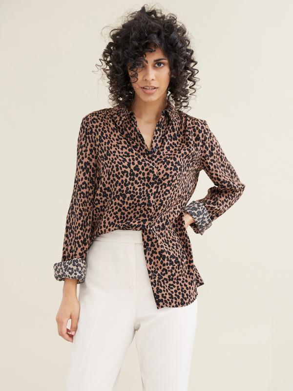 Блузка с леопардовым принтом - фото 1