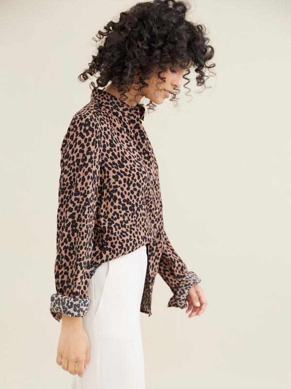 Блузка с леопардовым принтом - фото 2