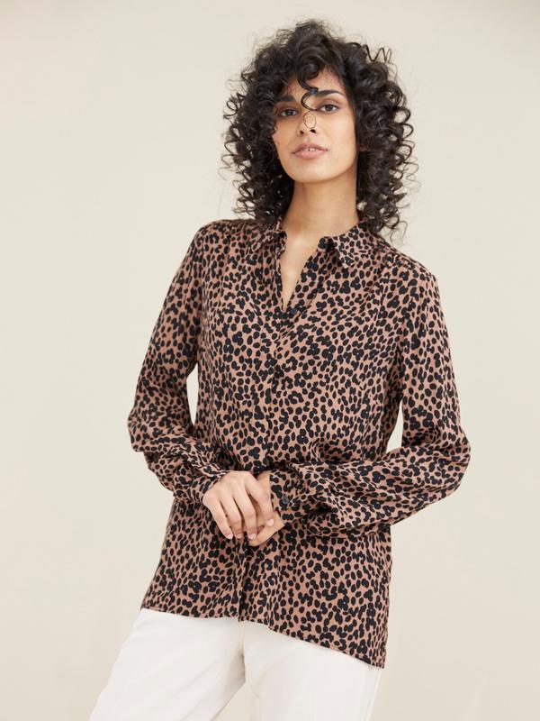 Блузка с леопардовым принтом - фото 4