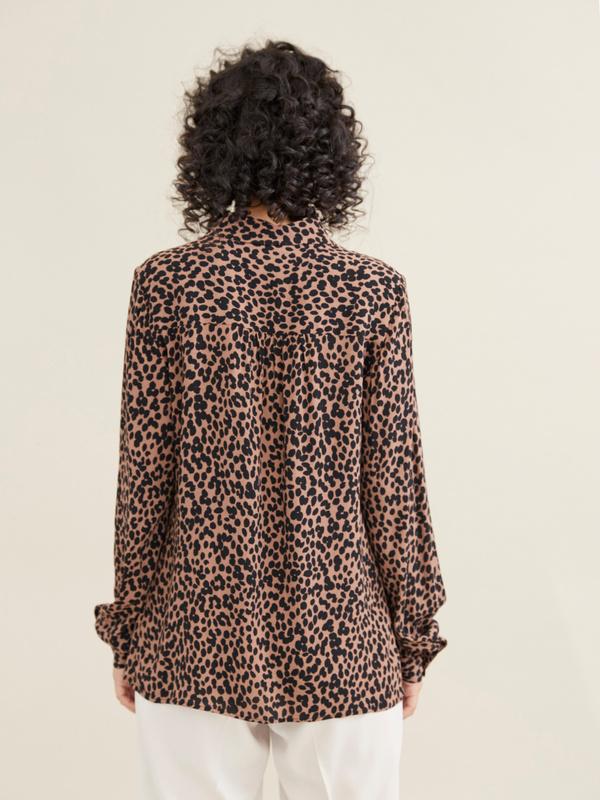 Блузка с леопардовым принтом - фото 5