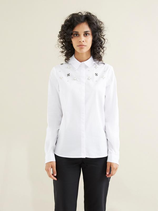 Блузка с вышивкой из страз - фото 4