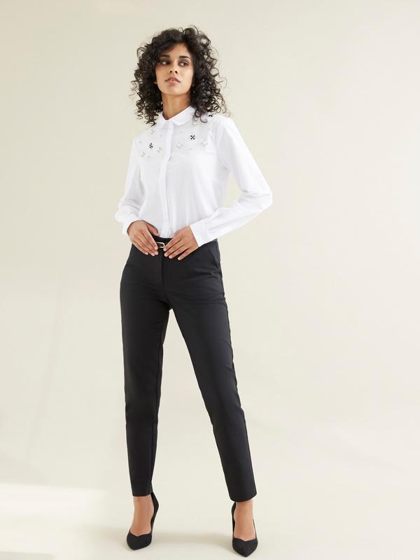 Блузка с вышивкой из страз - фото 5