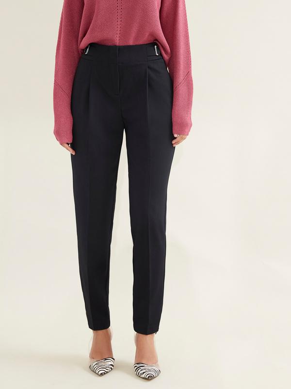 Зауженные брюки с врезными карманами - фото 1